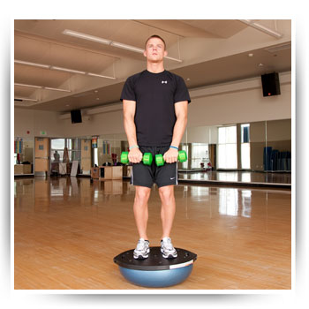 BOSU Lateral Raise (BOSU up)