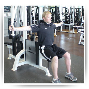 cable chest fly machine